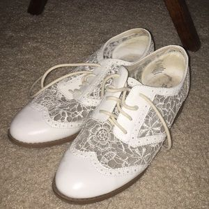 White Laced Style Shoes